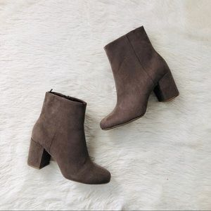 Old Navy NWT Taupe Faux Suede Studded Booties 6.5